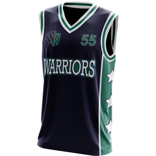 hot sale online 3250b d9d7d Woodland Warriors Basketball Club Singlet